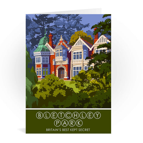 Bletchley Park, Bletchley, Buckinghamshire Greeting Card 7x5