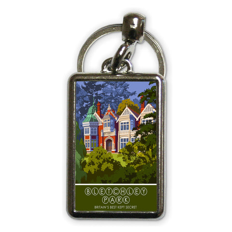 Bletchley Park, Bletchley, Buckinghamshire Metal Keyring