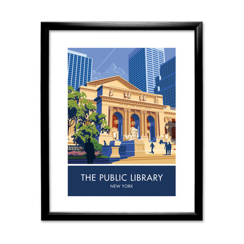 The Public Library, New York 11x14 Framed Print (Black)