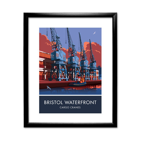 Bristol Waterfront, Bristol 11x14 Framed Print (Black)
