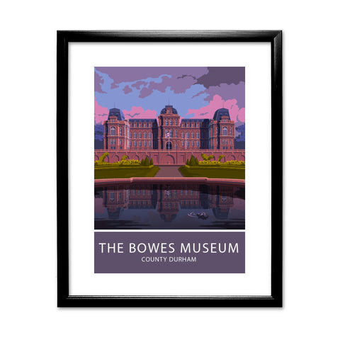 The Bowes Museum, Durham 11x14 Framed Print (Black)
