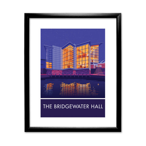 The Bridgewater Hall, Manchester, Cheshire 11x14 Framed Print (Black)
