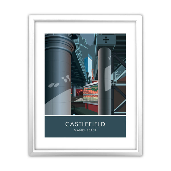 Castlefield, Manchester, Cheshire 11x14 Framed Print (White)