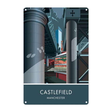 Castlefield, Manchester, Cheshire Metal Sign