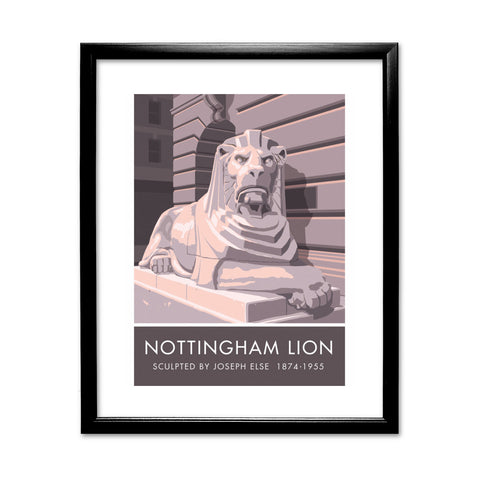 The Nottingham Lion, Nottingham 11x14 Framed Print (Black)