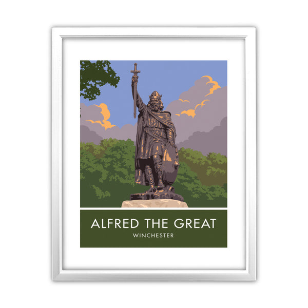 Alfred the Great, Winchester, Hampshire 11x14 Framed Print (White)