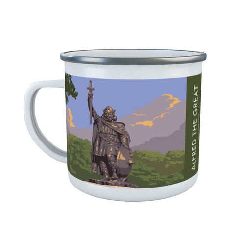Alfred the Great, Winchester, Hampshire Enamel Mug