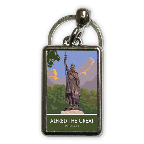Alfred the Great, Winchester, Hampshire Metal Keyring