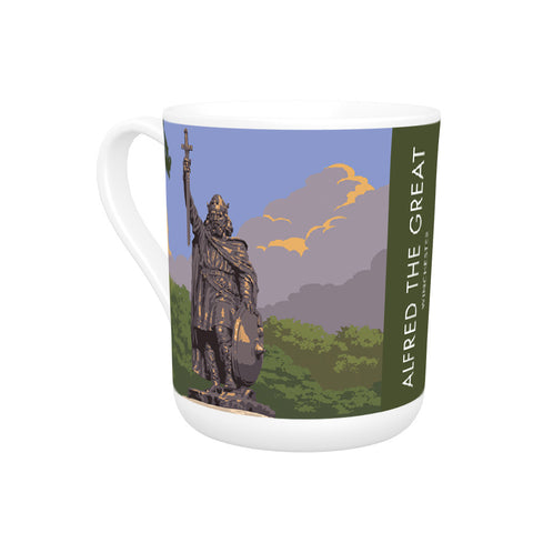 Alfred the Great, Winchester, Hampshire Bone China Mug