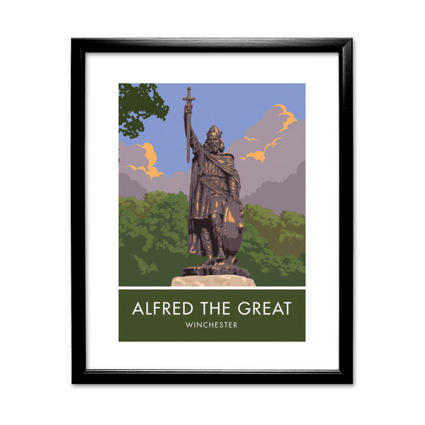 Alfred the Great, Winchester, Hampshire 11x14 Framed Print (Black)