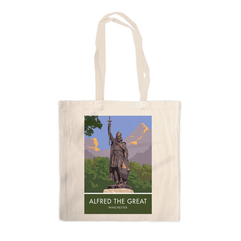 Alfred the Great, Winchester, Hampshire Canvas Tote Bag
