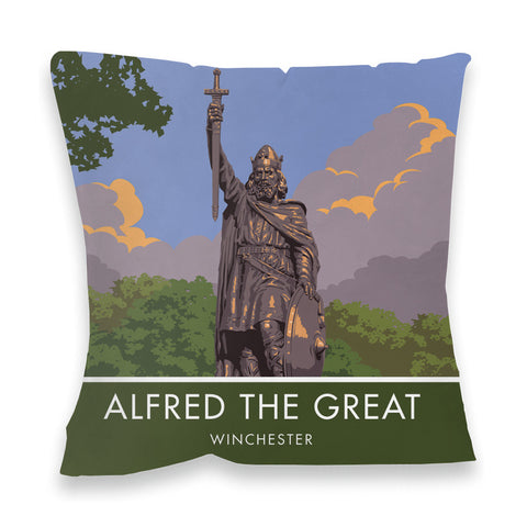 Alfred the Great, Winchester, Hampshire Fibre Filled Cushion