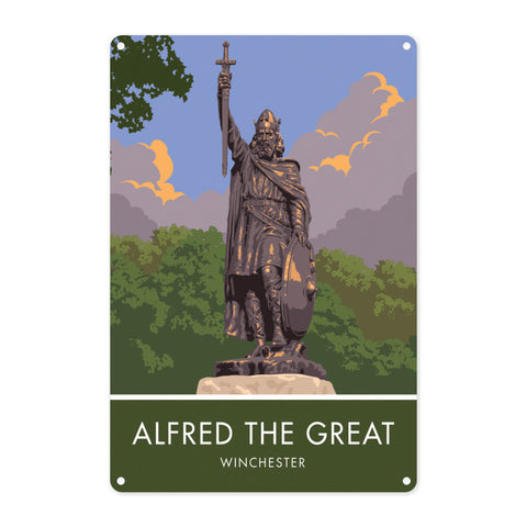 Alfred the Great, Winchester, Hampshire Metal Sign