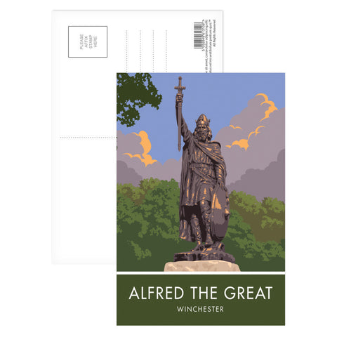 Alfred the Great, Winchester, Hampshire Postcard Pack