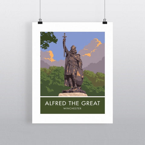 Alfred the Great, Winchester, Hampshire 90x120cm Fine Art Print
