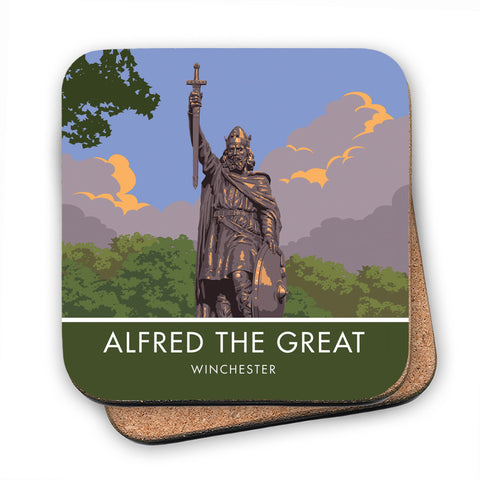 Alfred the Great, Winchester, Hampshire MDF Coaster