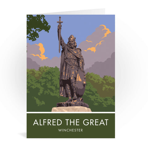 Alfred the Great, Winchester, Hampshire Greeting Card 7x5