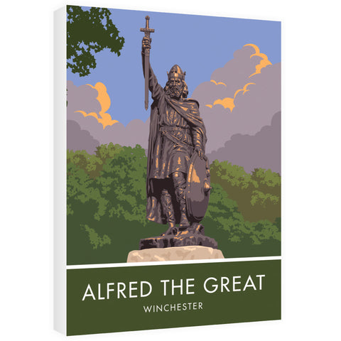 Alfred the Great, Winchester, Hampshire 60cm x 80cm Canvas