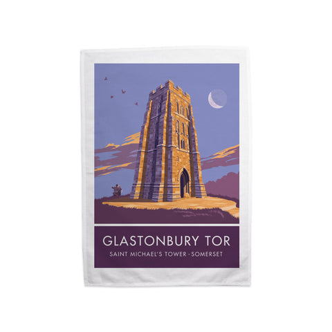 Glastonbury Tor, Glastonbury, Somerset Tea Towel