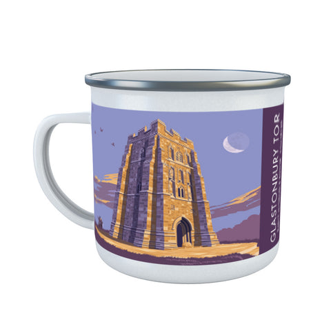 Glastonbury Tor, Glastonbury, Somerset Enamel Mug