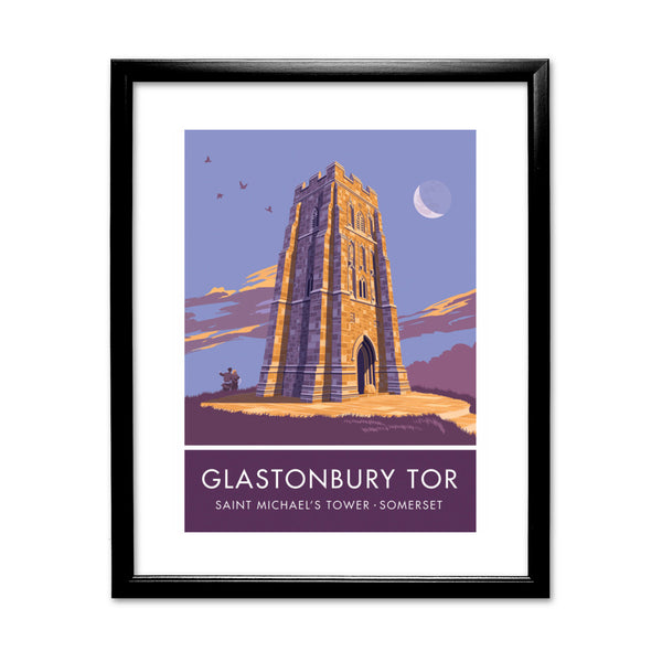 Glastonbury Tor, Glastonbury, Somerset 11x14 Framed Print (Black)