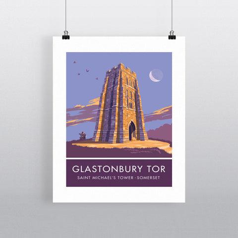 Glastonbury Tor, Glastonbury, Somerset 90x120cm Fine Art Print