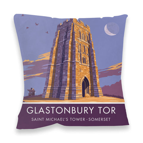 Glastonbury Tor, Glastonbury, Somerset Fibre Filled Cushion