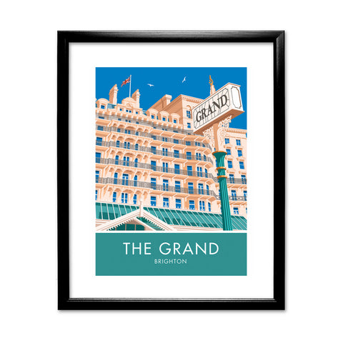 The Grand Hotel, Brighton, Sussex 11x14 Framed Print (Black)