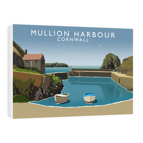 Mullion Harbour, Cornwall 60cm x 80cm Canvas
