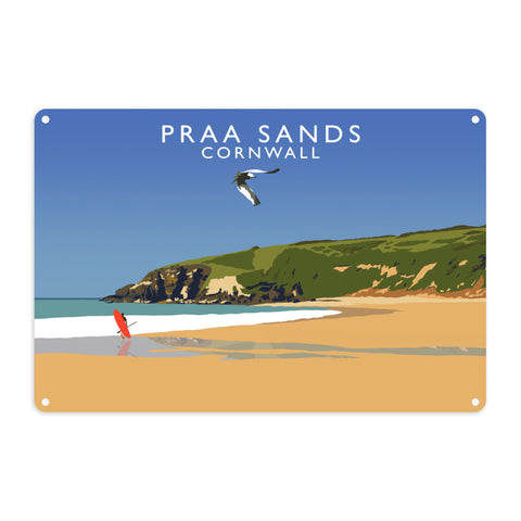 Praa Sands, Cornwall Metal Sign