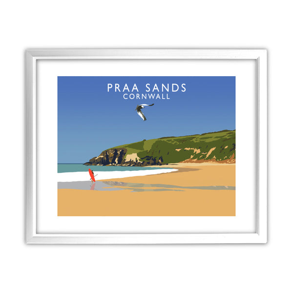 Praa Sands, Cornwall 11x14 Framed Print (White)
