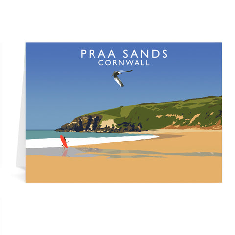 Praa Sands, Cornwall Greeting Card 7x5