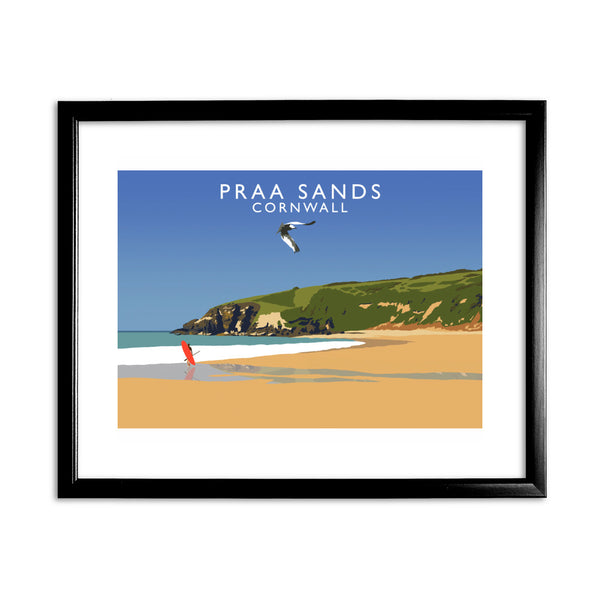 Praa Sands, Cornwall 11x14 Framed Print (Black)