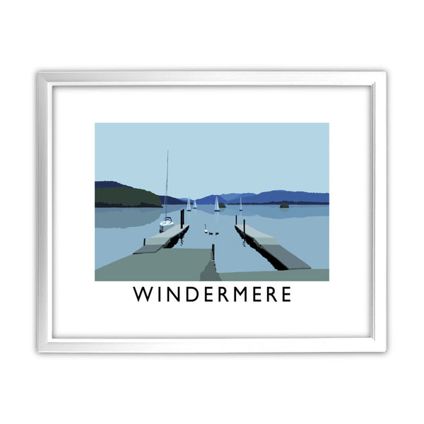 Windermere, Lake District 11x14 Framed Print (White)
