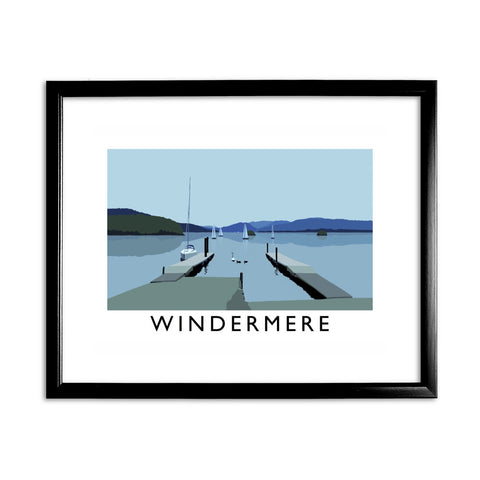 Windermere, Lake District 11x14 Framed Print (Black)