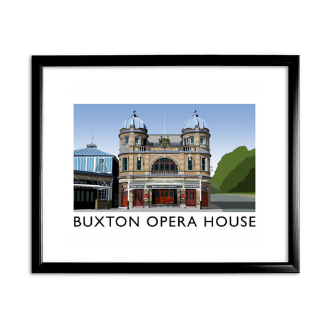 Buxton Opera House, Derbyshire 11x14 Framed Print (Black)