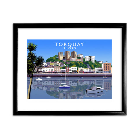Torquay, Devon 11x14 Framed Print (Black)
