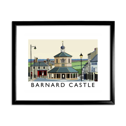 Barnard Castle, Co Durham 11x14 Framed Print (Black)