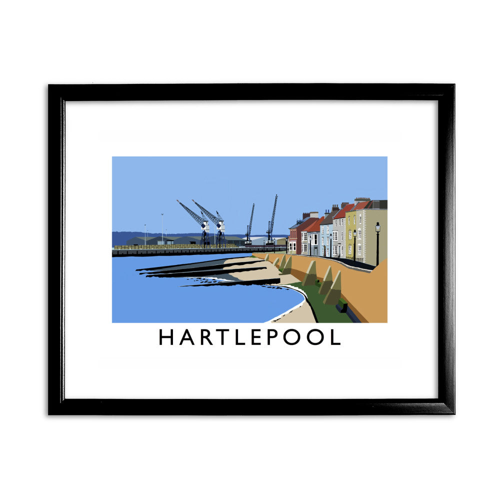Hartlepool, Co Durham 11x14 Framed Print (Black)