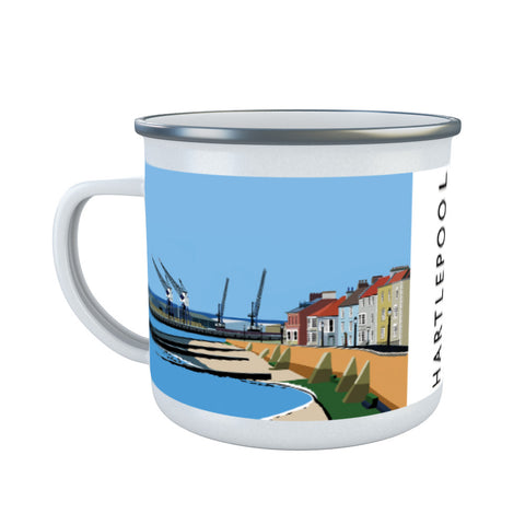 Hartlepool, Co Durham Enamel Mug