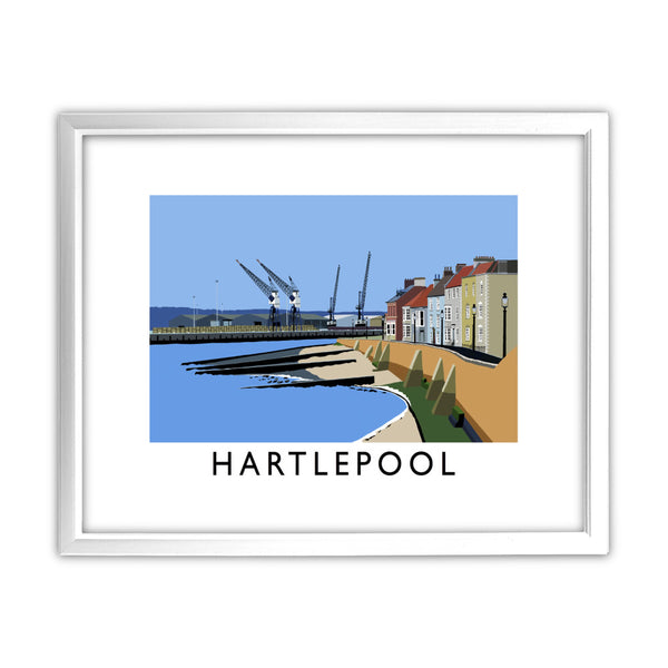 Hartlepool, Co Durham 11x14 Framed Print (White)