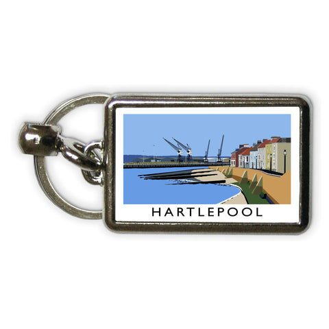 Hartlepool, Co Durham Metal Keyring