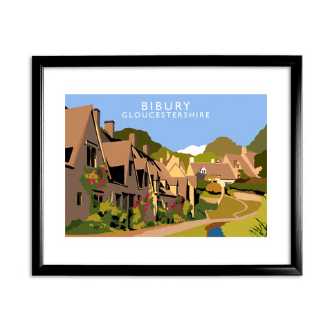 Bibury, Gloucestershire 11x14 Framed Print (Black)
