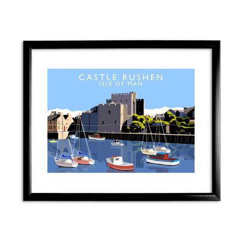 Castle Rushen, Isle of Man 11x14 Framed Print (Black)
