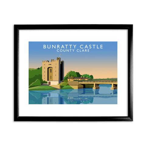 Bunbatty Castle, County Clare, Ireland 11x14 Framed Print (Black)