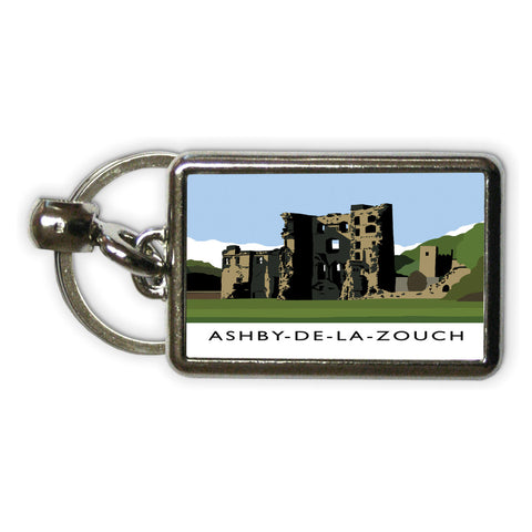 Ashby-De-La-Zouch, Leicestershire Metal Keyring