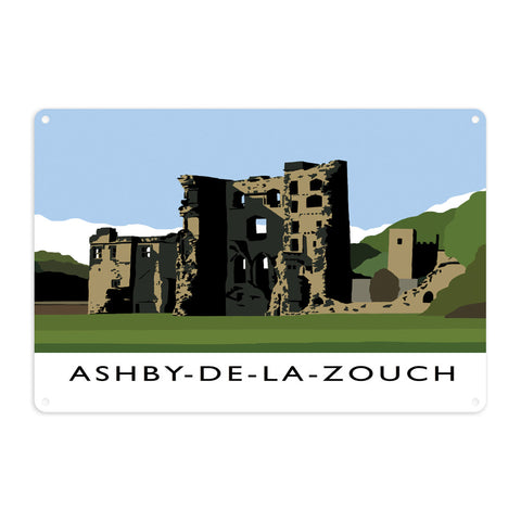 Ashby-De-La-Zouch, Leicestershire Metal Sign