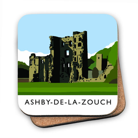 Ashby-De-La-Zouch, Leicestershire MDF Coaster