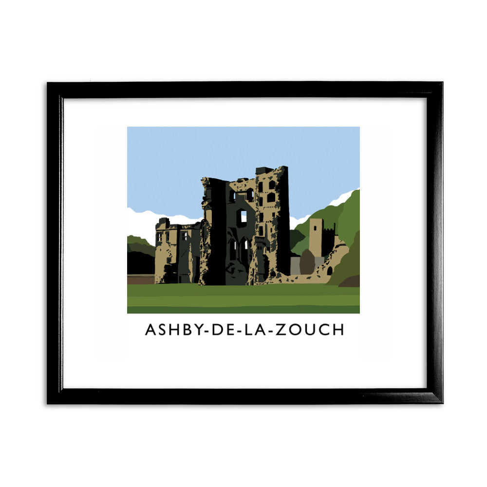 Ashby-De-La-Zouch, Leicestershire 11x14 Framed Print (Black)