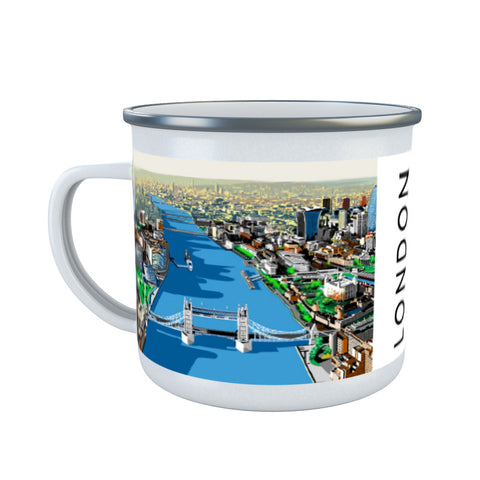 The River Thames, London Enamel Mug
